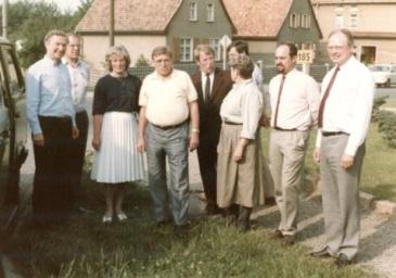 v.l.n.r.-Carl-Horst-Hahn-Dr.h.c.Walther-Leisler-Kiep-Erich-Honecker.
